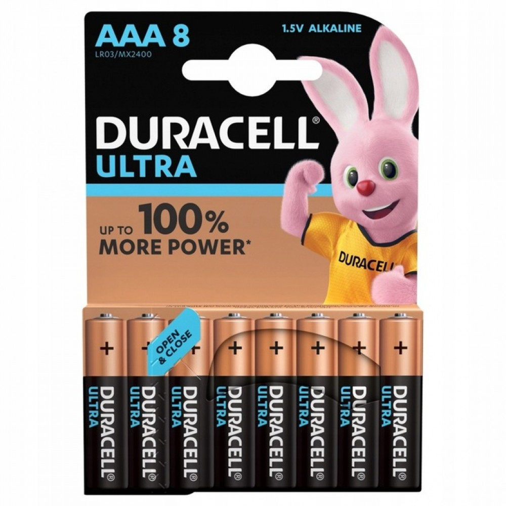 Duracell baterie ultra power aaa 8-pack